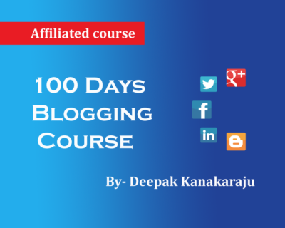 Digital Marketing – 100 Days Blogging Course