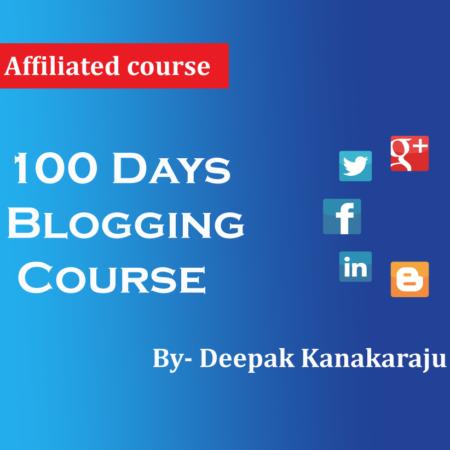 Digital Marketing – 100 Days Blogging Course