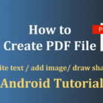 how to create pdf file in android
