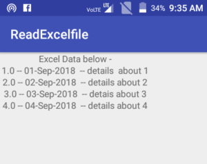 how to read excel file in android