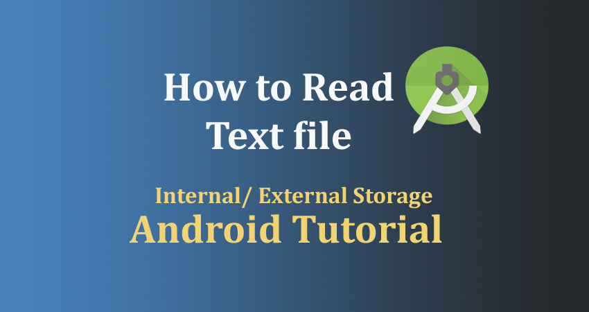 how to read text file in android