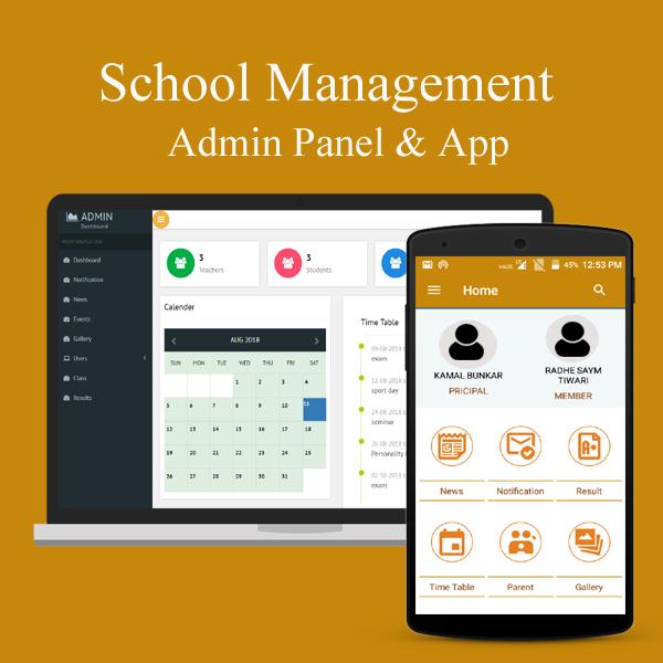 School App for Parent & School Admin Panel
