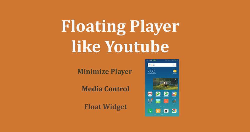 floating video player in android like youtube player